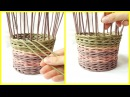 Плетение прямой и обратной веревочкой в 3 трубочки плавный незаметный переход