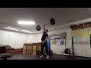 Old School Weightlifting: One Arm Snatch 72kg