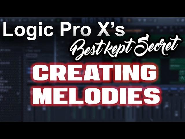 🔥 Logic Pro Xs Best Kept Secret - Easily Creating Melodies | Beat Making Tutorial Music Production
