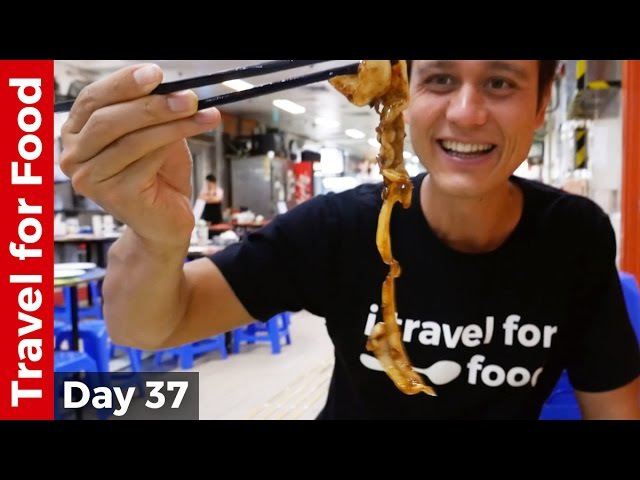 Hong Kong Food Tour - Breakfast, Bamboo Noodles Won Ton, and Chinese Dai Pai Dong Feast!