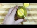 Как чистить манго с косточкой 🍑
