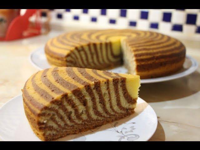 Очень Вкусный Нежный и легкий в приготовлении Пирог Зебра