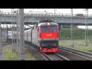Электровоз ЧС7-082 с поездом №116 Адлер - Санкт-Петербург