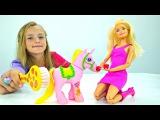 Барби подарили ЕДИНОРОГА! Делаем красивую ТАТУ 🎀 Мультик Куклы Barbie / Игры для Де...