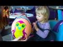 Большой киндер сюрприз хетчималс распаковка игрушки Giant surprise egg hatchimals