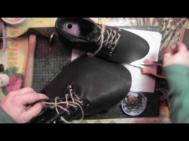 Мастер-класс №18. Зимние ботинки. Часть 8. Winter boots master class