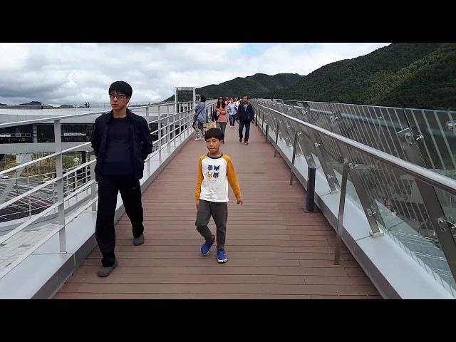 서울 양양 고속도 내린천 휴게소 전망 Naerincheon rest perspective, Naerincheon中休站前景