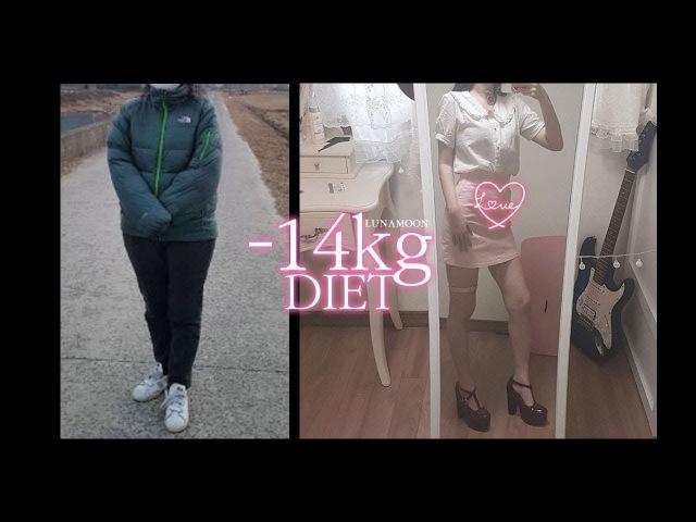 -14kg 감량한 루나문의 다이어트 이야기 -14kg DIET │ 살빼기 철칙 방법 │ 다이어트 결4990
