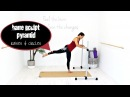 Ballet Barre Workout Lower Body Barre - BARLATES BODY BLITZ Barre Sculpt Pyramid Raises and Circles