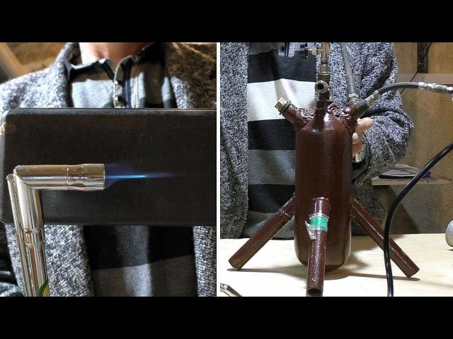 Как сделать бензиновую горелку своими руками How to make a gasoline burner