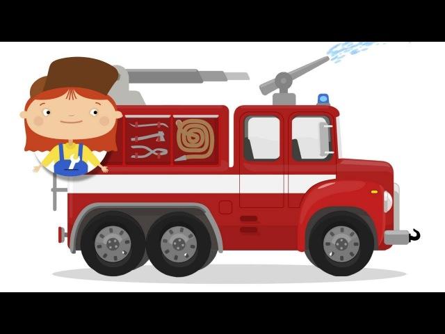 Le garage de Dr McWheelie Camion de pompiers Dessin animé éducatif de voitures