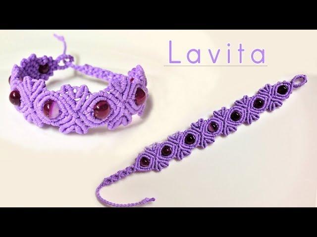 Macrame tutorial: The Lavita bracelet - Cute and easy DIY armlet