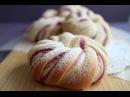 Spiral Bread(Purple Yam paste ) うずまきパン♪ぐるぐるねじって~