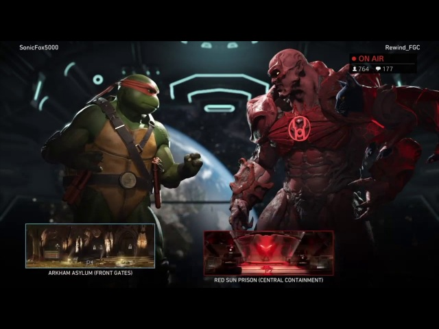 Injustice 2 - Sonicfox Debuts Michelangelo | High Level KOTH (Sonic, Rewind, Semiij)
