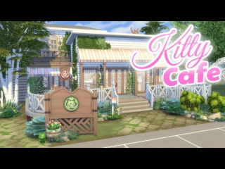 KITTY CAT CAFE | The Sims 4: CATS AND DOGS Speed Build (NO CC)