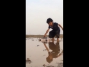 4 x 4 cruiser stuck in the mud and help comes from an unexpected form