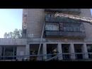 Пожар на балконе дома 35 по Растопчина г Владимир