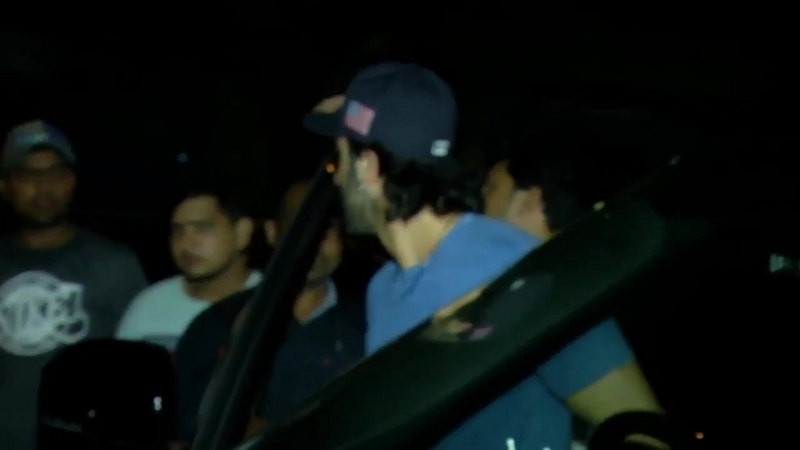 Ranbir Aditya and Rohit Dhawan leaving Hakkasan last night