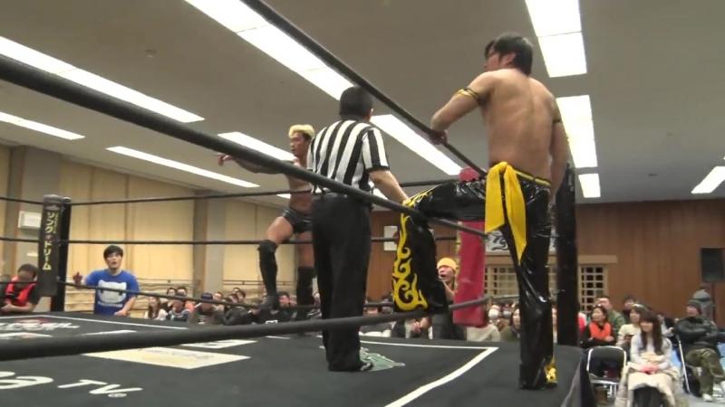 Danshoku Dino, Keisuke Ishii, Kouki Iwasaki vs. KUDO, Yukio Sakaguchi, Kota Umeda (DDT - Tsuyuhashi Again in Nagoya 2018)