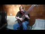 Scott Plummer (Viraemia) plays technical death metal bass riffs
