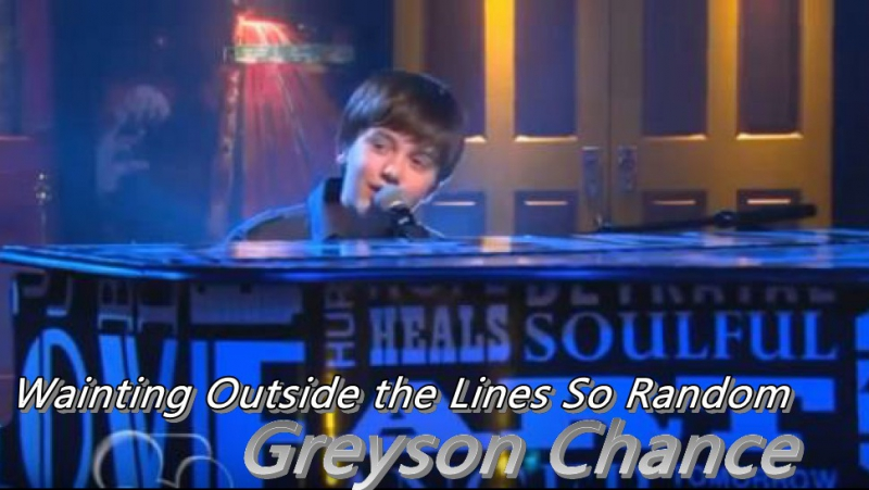 Greyson Chance – «Wainting Outside the Lines So Random»