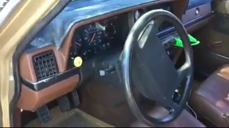 Toto Africa in a Volvo 240 while door is open