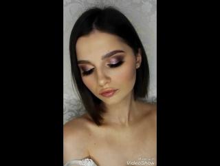 Яркий макияж с пигментами