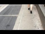 Various Heel Ladies Walking Through The City