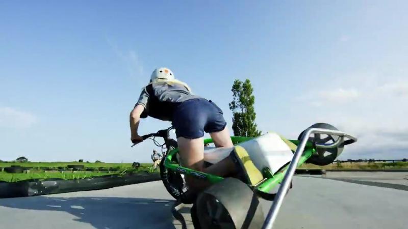 Motorized Drift Trike and Blokart in 4K
