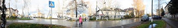 Вторая часть панорамы перекрёстка на Свердлова  14 ноября 2017