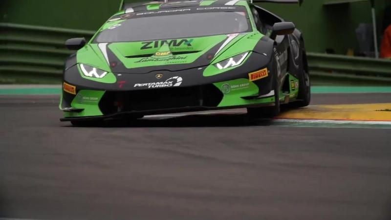 Lunch break in Imola! Stay tuned for the... - Lamborghini Squadra Corse