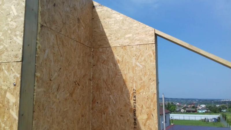 Процесс стройки дома из СИП-панелей
