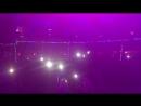 Эти облака и фиолетовая фата. И новогодние огни. Ночной клуб Платина, Череповец. 1 января 2018 года.