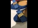 Балетки синие