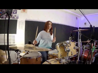 Coldplay - Speed of sound (drum cover от Танюхи)