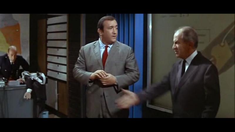 Фантомас разбушевался (Франция, 1965) комедия, Луи де Фюнес, Жан Марэ, советский дубляж без вставок закадрового перевода