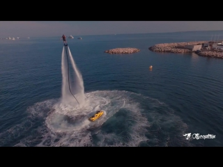 Flyboard world champion gemma weston on the french riviera