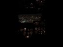 Посадка самолета 🛬 ночь , Москва , кабина 👨✈️ пилота