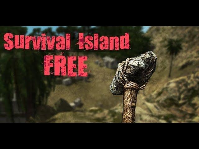 Выживаю на острове, жру бананы и пытаюсь убить бегемота. Survival Island.