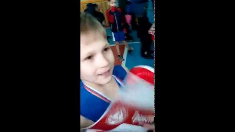 Первый бой по боксу Масимова Ивана