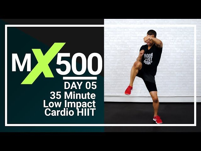 35 Minute Low Impact HIIT Cardio Workout for Fat Loss (NO JUMPING!) MX500 05