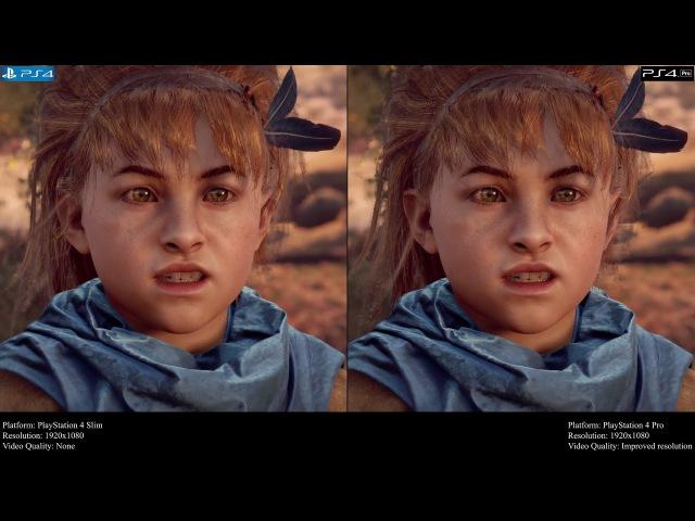 Horizon Zero Dawn Complete Edition - PlayStation 4 Pro vs PlayStation 4 Slim V. 2