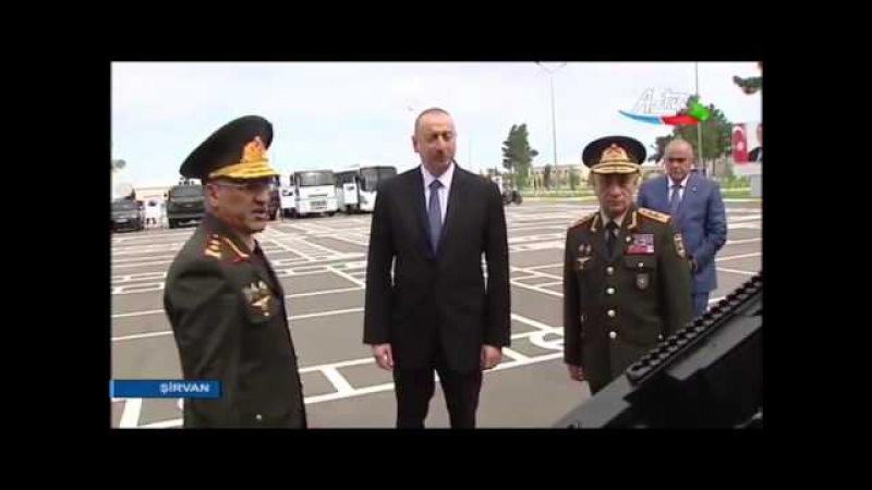 Azərbaycan Respublikasının prezidenti İlham Əliyevin Şirvan şəhərinə səfəri 23 06 2017