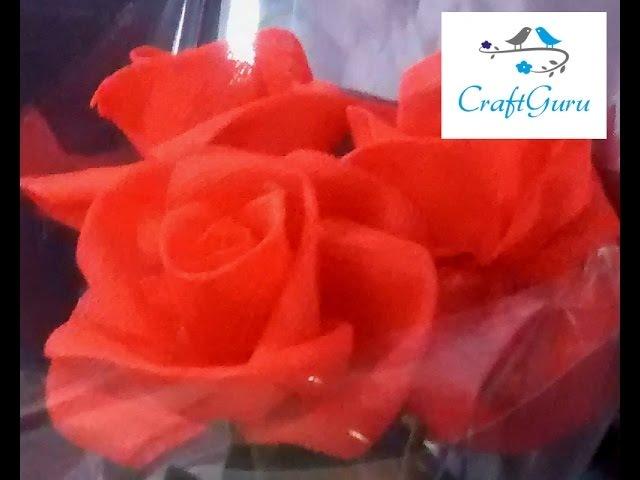 Fun Easy Crafts Beautiful Organza Flower 2 (Rose)