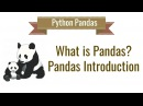 Python Pandas Tutorial 1. What is Pandas python? Introduction and Installation