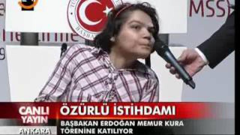 Engelli kızın şiiri Başbakan Erdoğanı Mest Etti.