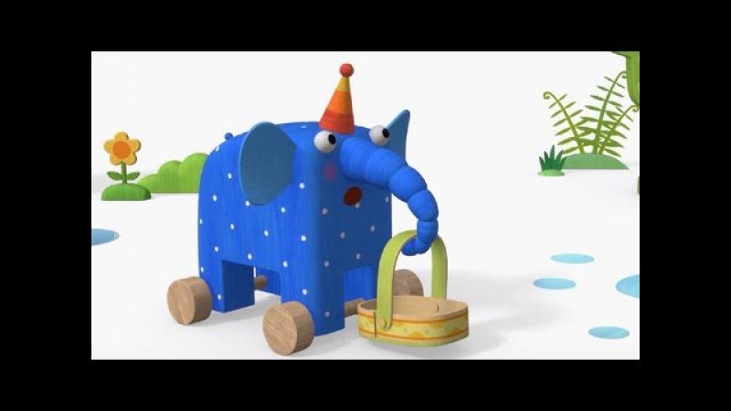 Деревяшки - Радуга Урожай - обучающие мультфильмы для малышей 0-4