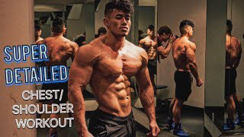 SUPER DETAILED CHEST SHOULDER WORKOUT | 7 WEEKS OUT ARNOLD CLASSIC | MY NEW CAMERA