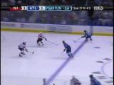 Ilya Kovalchuk fantastic shot goal vs Devils from Slava Kozlov pass (2007)