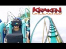 Kraken Unleashed Full POV VR Roller Coaster Virtual Reality Onride SeaWorld Orlando 2017